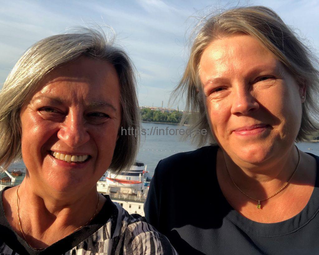 Sonja Sokolic och Helén Alseby på Katarinavägen i Stockholm